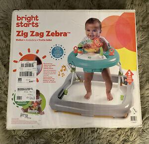 Zig Zag Zebra Baby Walker with Activity Station, Bright Starts NEW!