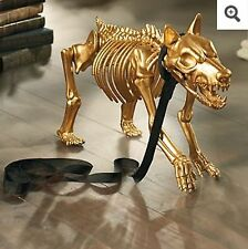 Grandinroad Gold Skeleton Dog Halloween