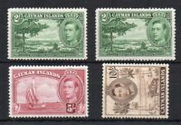 Cayman Islands 1928-48 2d (both shades), 5s and 10s MLH/MH