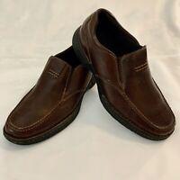 Rockport Loft BL Moc Brown Leather Slip On Loafers Shoes A14053 Mens Sz 10