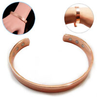 Rose Gold Copper Bracelet Therapy Healing Magnetic Arthritis Pain Relief Unisex