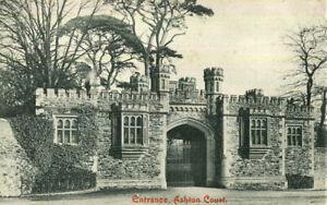 1910s postcard Entrance to Ashton Court BRISTOL