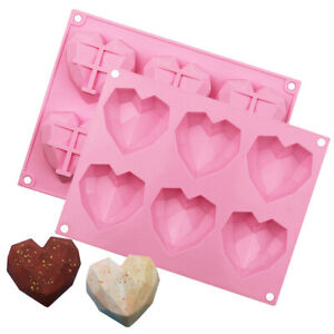 Silicone Big 3D Heart Cake Chocolate Candy Mould Cookies Ice Cube Jelly Mold DIY