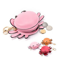 Cute Crab Women Coin Purse Kids Wallets Coin Purse PU Key Packet Gift Bag NJ