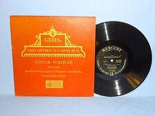 "Victor Schioler Grieg Piano Concerto 10"" 33rpm MG 15012 Danish Pianist"