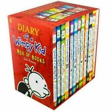Diary of a Wimpy Kid Collection 12 Books Set by Jeff Kinney (2018, Paperback)