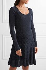 DIANE VON FURSTENBERG Perlita Metallic Stretch-Knit Dress Size S Orig. $400 NEW