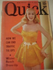 december 15 1952 QUICK News Weekly Magazine Winter Beach Dress Up + Baby Ruth Ad