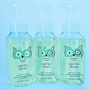 3 BATH & BODY WORKS OWL BE THERE COCONUT LIME VERBENA GENTLE FOAMING HAND SOAP
