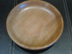 Hand turned dark wood bowl