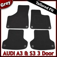 Audi A3 Mk2 3-Door 2003-2013 Fully Tailored Fitted Carpet Car Floor Mats GREY
