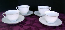 VINTAGE Duchess by Japan- JAPDUCH- Pattern 5204 -Tea Cup and Saucer- Set of 4