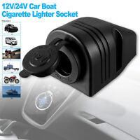 12V Car Motorcycle Boat Cigarette Lighter Socket Power Plug Outlet Waterproof