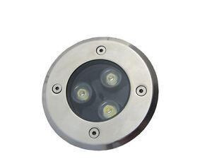 1x3W DC12V LED Round Outdoor ground Garden Path Light IP67 White Lamp Waterproof