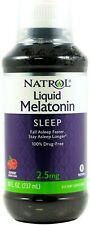 Natrol Melatonin 2.5 mg Liquid 8 Fl Oz Sealed Drug - Free
