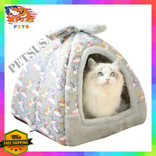 Unicorn Cat/Dog Bed Cave Kennel Warm Winter Igloo House Small/Medium/X-Large/XL