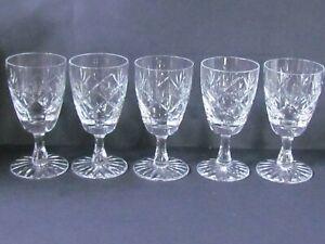 "WEBB CORBETT PRINCE CHARLES PATTERN GROUP OF FIVE 4"" SHERRY GLASSES (Ref7546)"