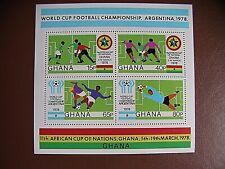 BLOC NEUF FOOTBALL GHANA 1978 - MINT SHEET SOCCER GHANA 1978