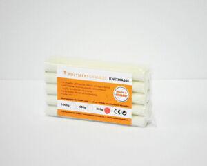 Modellierknete 250g weiß/beige Knetmasse Plastilin Knete Knetstangen