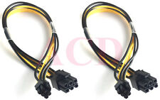 2PK Mini 6pin to 6pin PCI-e PCIe For Apple Mac-Pro G5 Video Card Power Cable