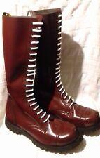 20 hole cherry red Ranger boots size 12 EU 46 skinhead skin skins Oi Gothic punk