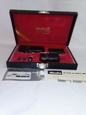 Vintage Minolta 16 MG Miniature Camera Kit in Case with Accessories