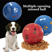 Pet Dog Puzzle Fun Tough-Treat Ball Mental Food Dispenser Interactive Play Toys