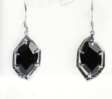 Sterling silver Black Onyx drop earrings QVC signed Sigal 5.4g