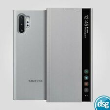 Samsung Original Phone Case for Samsung Galaxy Note 10+ Clear View Cover Silver