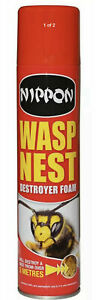 Nippon Wasp Nest Destroyer Foam Killer Spray 300ml Can Covers 3M Jet Hornets Fly