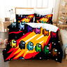 3D Among Us Bedding Set Doona Duvet Cover Pillow Case Quilt Cover Game Double
