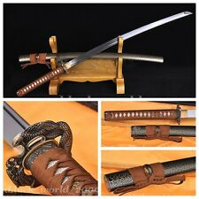 Japan Samurai Sword 1095 Steel Ancient Quenching Heat Treatment Hand Grinding