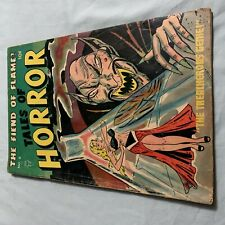 TALES OF HORROR #6 Pre Code VG 1953 Toby Press RARE CLASSIC COVER 15 on CGC