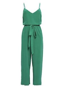 L'Agence Jaelyn Green Silk Jumpsuit Size 2
