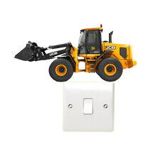 JCB Dumper Truck Light Switch Sticker Childrens Bedroom Tractor Construction