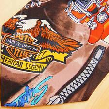 NICOLE MILLER Harley Necktie Vintage 1991 Softail Ride to Live VTG Biker Tie