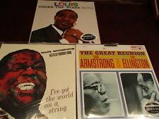 LOUIS ARMSTRONG CLASSIC RECORDS AUDIOPHILE 33 & 1/3 RARE LIMITED EDITION LP SET