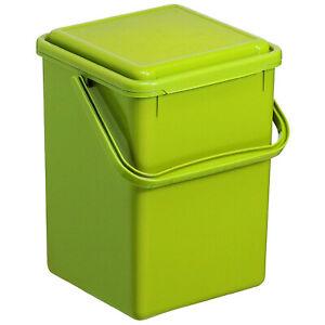 ROTHO Bio Kompost Müll Eimer 9L Küche grün Kunststoff geruchsdicht Deckel neu