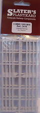 Slaters 7A16 Lineside Fencing 8 x 138 x 29mm  White Plastic Kit 0 Gauge 1st Post