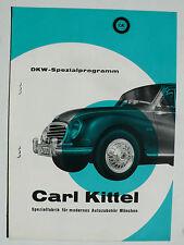 Prospetto DKW programma speciale di Carl camice, circa 1958, 4 pagine