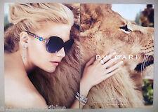 Bulgari Mon Jasmin Noir Perfume 4-Page PRINT AD - 2011 ~~ lion