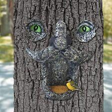 Tree Face Hugger Bird Feeder Garden Peeker Yard Art Decoration Outdoor Sculpture