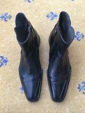 Oliver Sweeney Mens Black Leather Chelsea Dealer Boots UK 9 US 10 EU 43 Notch