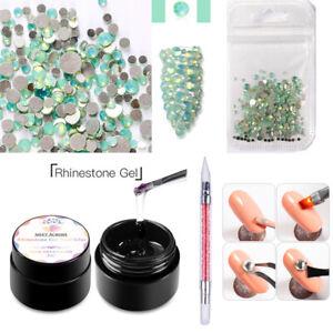 3Pcs/set Nail Art Rhinestones DIY Gel Glue UV Adhesives Sticky Diamond Decor Kit