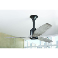 """Weathered Wood 3-Blade 52"""" Ceiling Fan Remote Industrial Rustic Farmhouse Black"""