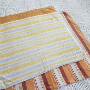 Vintage Retro yellow brown Bath Beach Towels 60s 70s 80s vw camper camping tv
