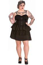 Black XXL Dress Goth Corset UK 18 Hellbunny Azrael Rara 1980s Gothic