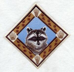 Embroidered Fleece Jacket - Raccoon Track Diamond D1500 Sizes S - XXL