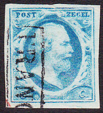 NVPH 1 Koning Willem 3  LuXe gerand Gebruikt Cataloguswaarde 45,00 E-2343