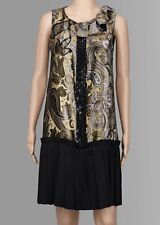 Etro Special Occasion Cocktail Retro Dress Gold and Black Size IT 42, UK 10